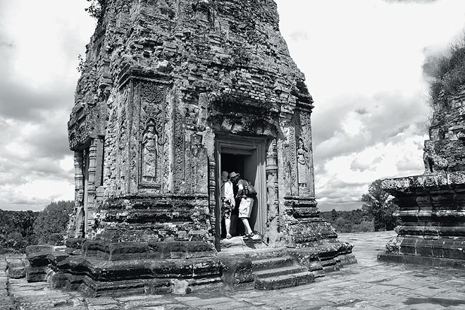 The three-spired Pre Rup, built AD 961 and dedicated to Shiva, and offering great views of the surrounding countryside