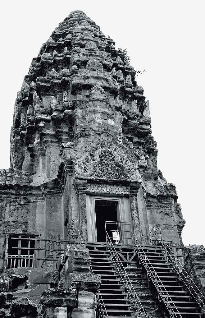 Angkor Wat: The central of the temple's five spires
