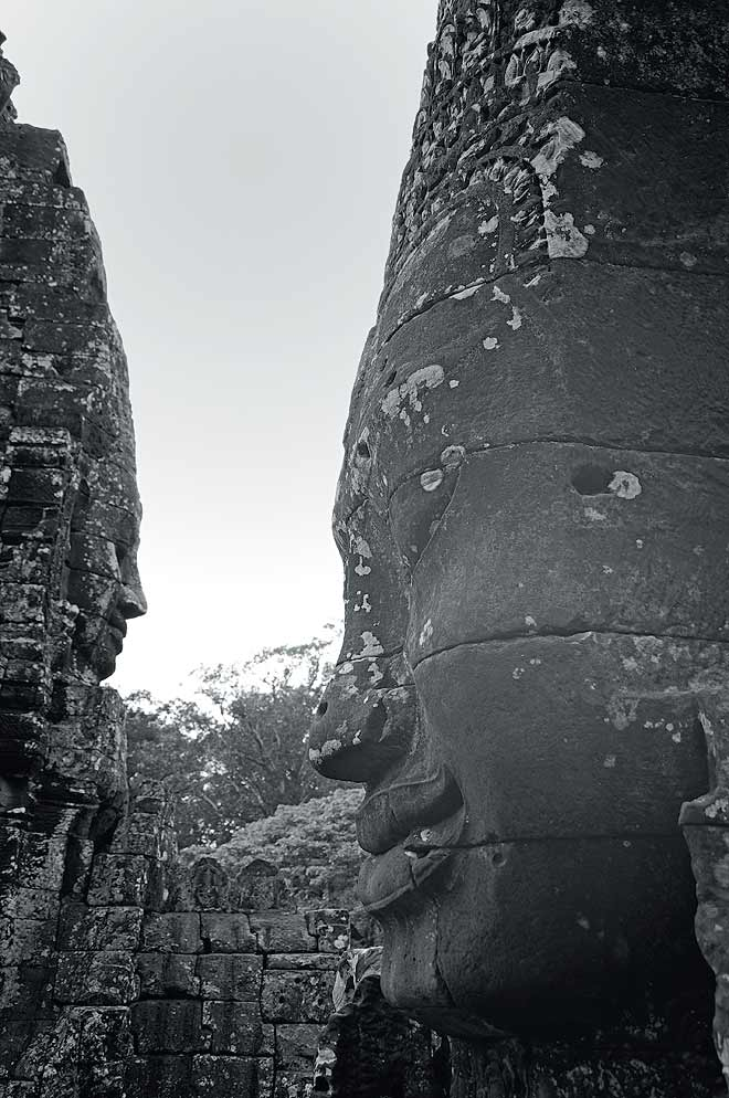 The Bayon: The haunting carved faces, said to be Jayavarman himself