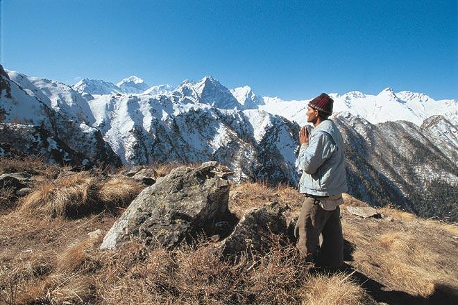 Lata Kharak, a ridge high above Lata village at the entry of Nanda Devi National Park