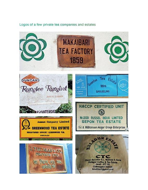 Logos of a few private tea companies and estates. (From the book Chai: The Experience of Indian Tea, by Rekha Sarin and Rajan Kapoor; Published by Niyogi Books; Price Rs 1,995)