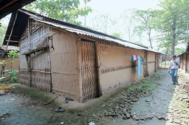 The mud-plastered bamboo dwelling of a tea worker in Assam. (From the book Chai: The Experience of Indian Tea, by Rekha Sarin and Rajan Kapoor; Published by Niyogi Books; Price Rs 1,995)