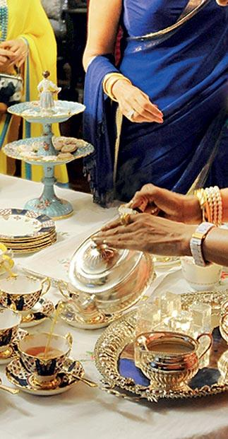 A delicate tea service the western way. (From the book Chai- The Experience of Indian Tea Text by Rekha Sarin Published by-Niyogi Books Price- Rs. 1995)