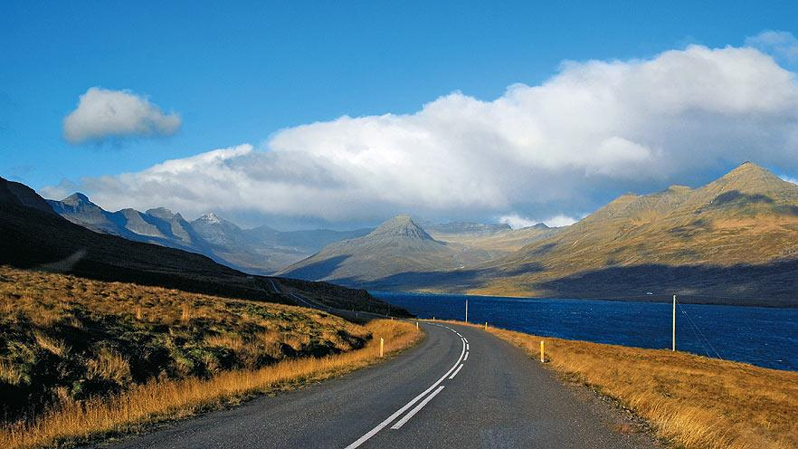 Route 1 winds around Iceland's craggy east coast, leading to the secluded Eastfjords