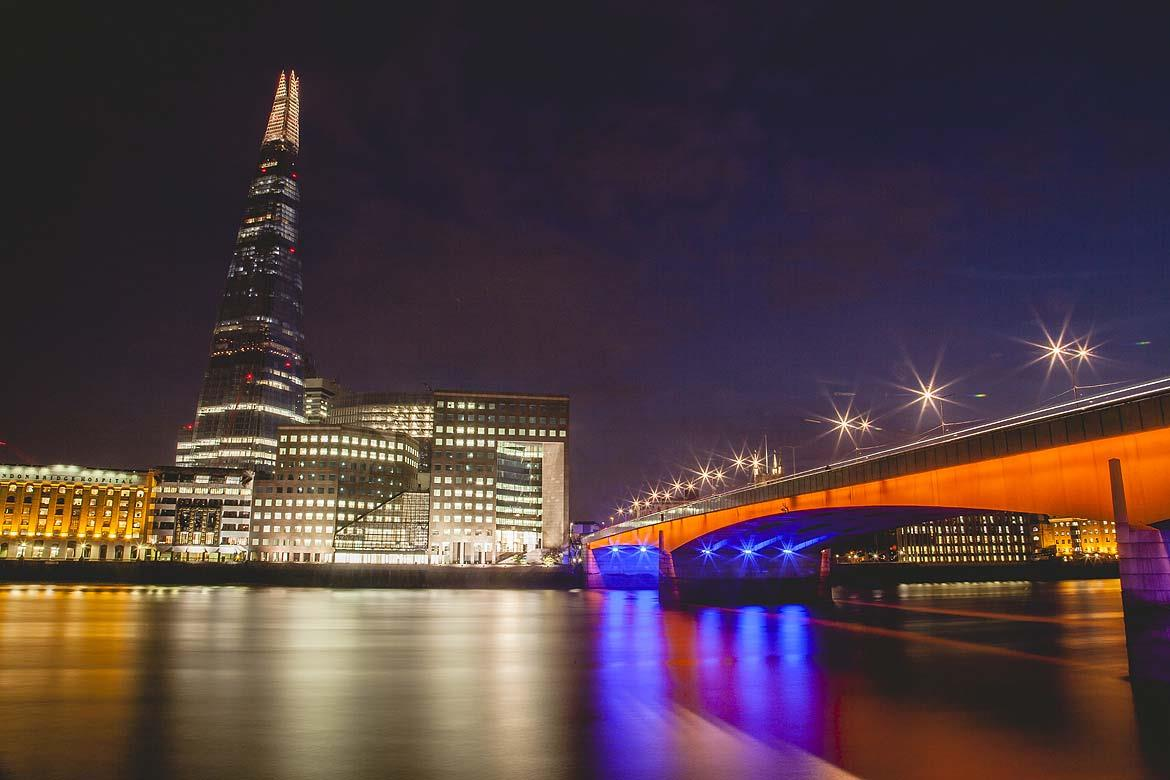 The Shard is one of London's more recent architectural attractions, an 87-storey building that is part of the London Bridge area development plan.