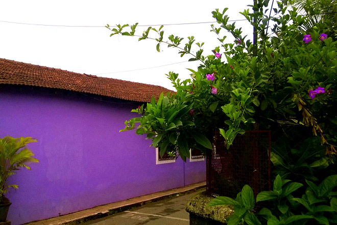 The rains bring out different hues in the already vibrant houses, flowers are in bloom and like a cherry on the cake, you are also spared from the hustle and bustle of a touristy crowd
