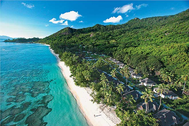 The pristine sands and the shimmering waters beckon at Silhouette Island