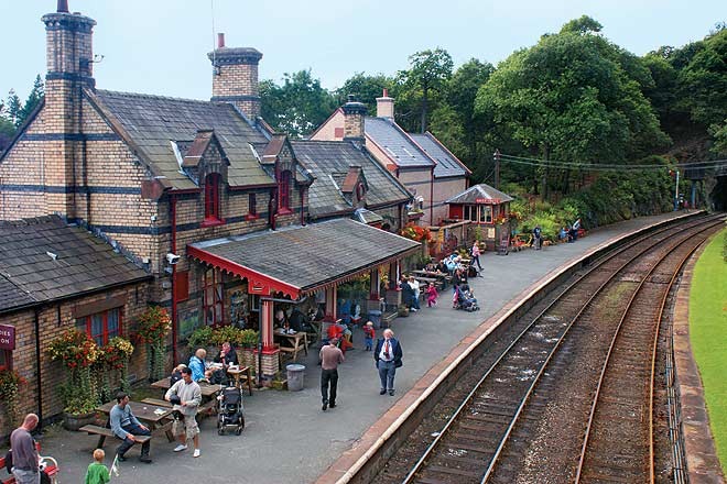Waiting for the train to arrive at Windermere in the Lake District