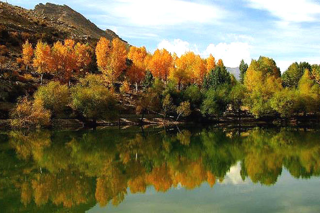 Onset of autumn at Nako village
