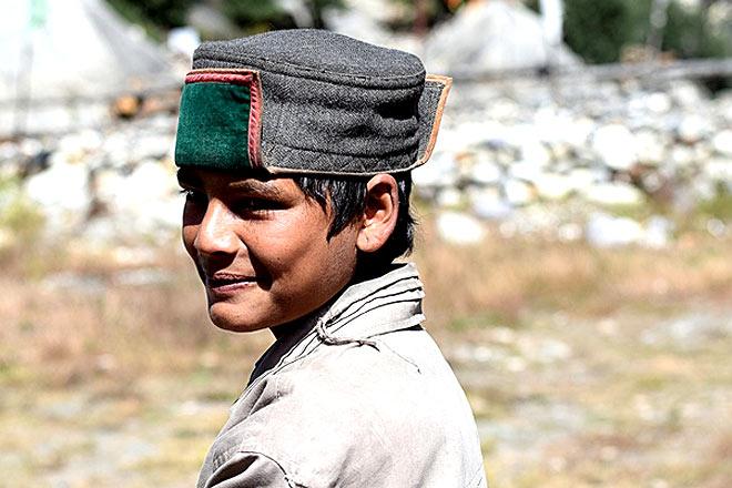 A Kinnauri boy wearing Thepang