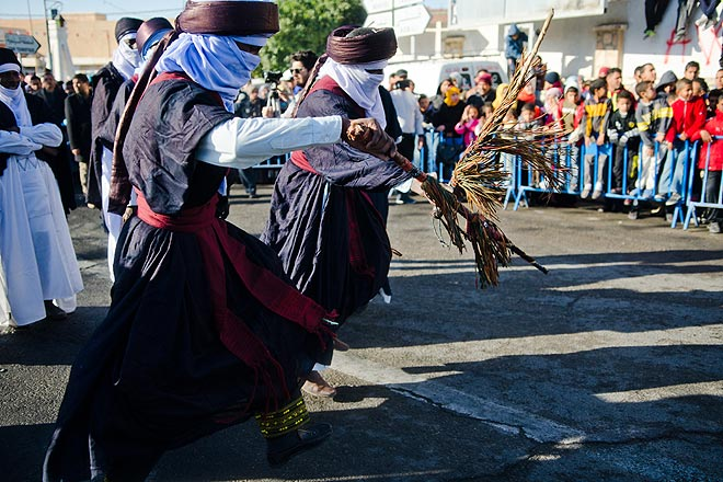 A performance by the Tuareg tribe during the opening ceremony