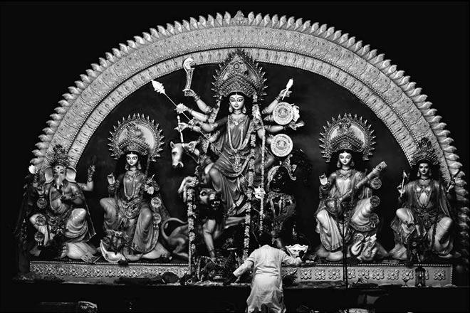 The Goddess at the the Market 2 pandal at CR Park