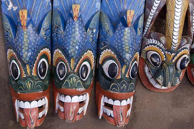 Dramatic Sri Lankan masks
