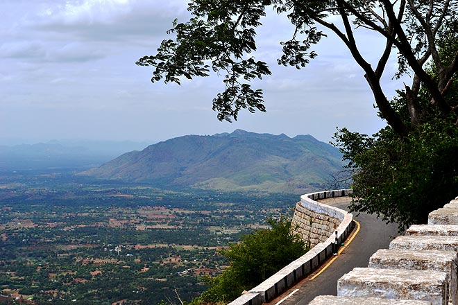 An aerial view of Yelagiri
