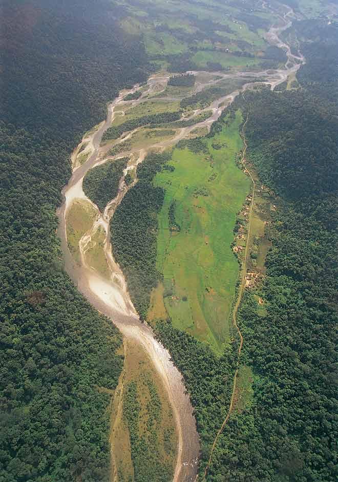 An aerial view of Namdapha National Park in Arunachal Pradesh