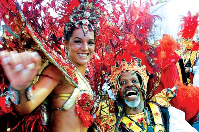 At the carnival in Rio de Janeiro
