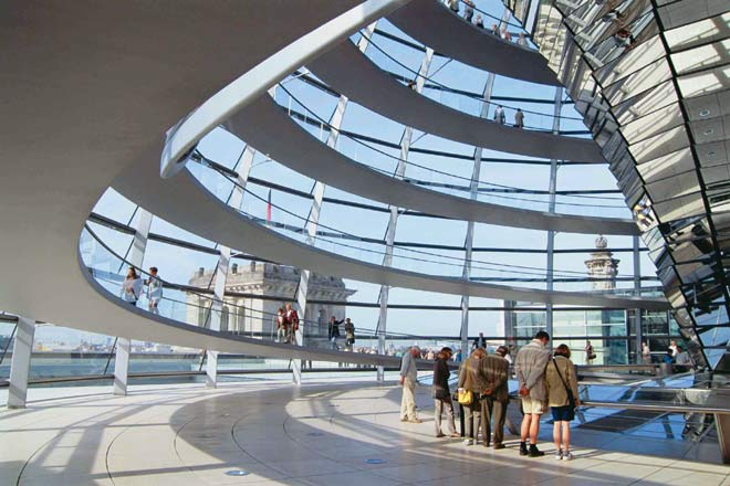 The dome of the Reichstag Building, Berlin