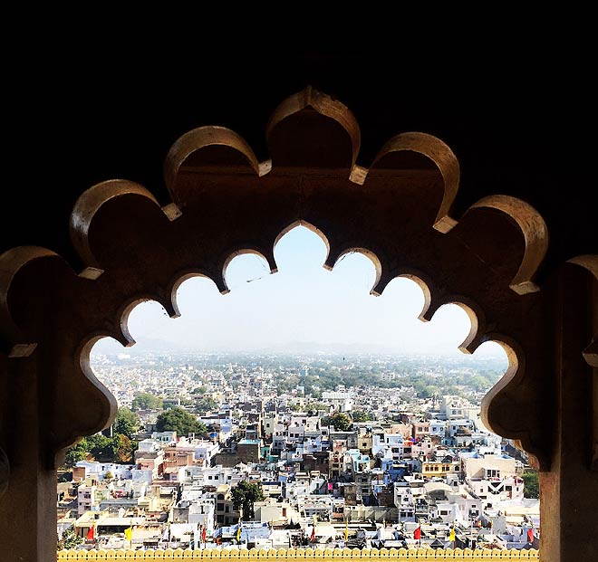 View of Udaipur from the City Palace