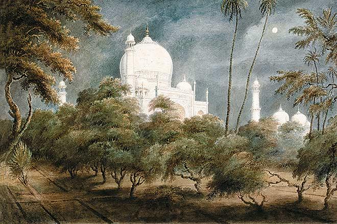 The Taj seen by moonlight