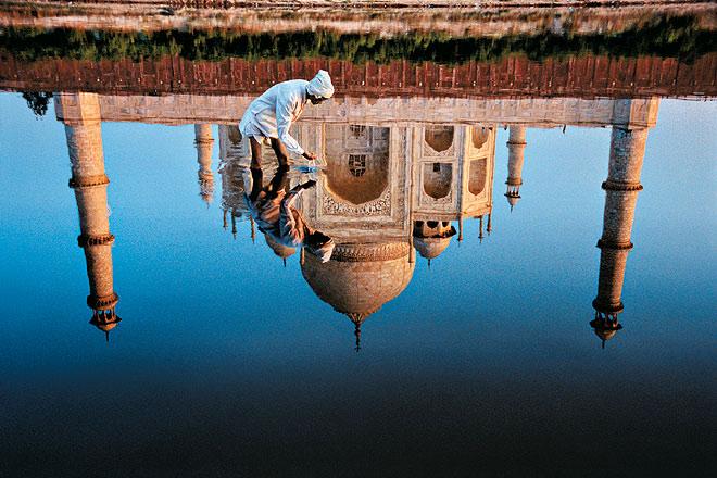 Reflections of the Taj Mahal. Agra, Uttar Pradesh, 1999