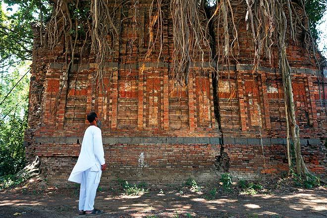 Kulutia--s Husain Shahi mosque ravaged by a banyan tree