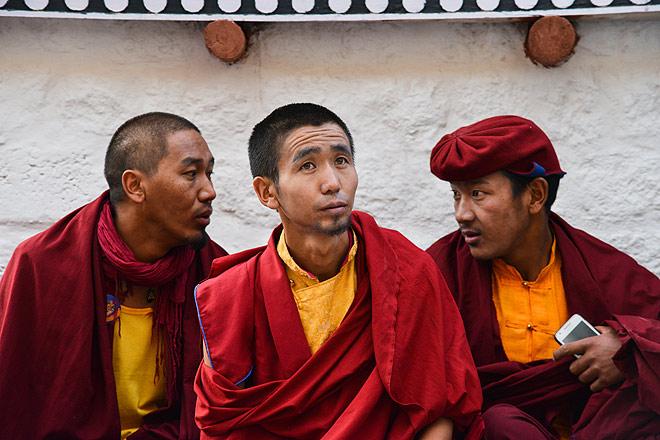 Drukpa monks at the Hemis Monastery