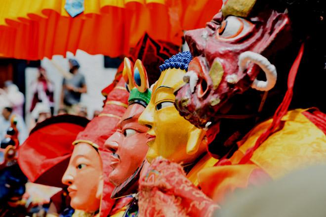 Four of the manifestations of Padmasambhava, viz. Guru Padmasambhava, Padmaraja, Guru Shakya Singha and Guru Vajralila