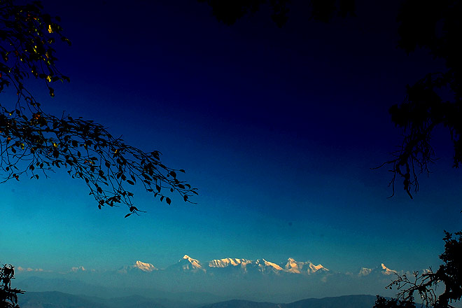 Corbett straddles the Shivalik hills, and from some of its higher points, you can get a panoramic view of the Kumaon Himalaya