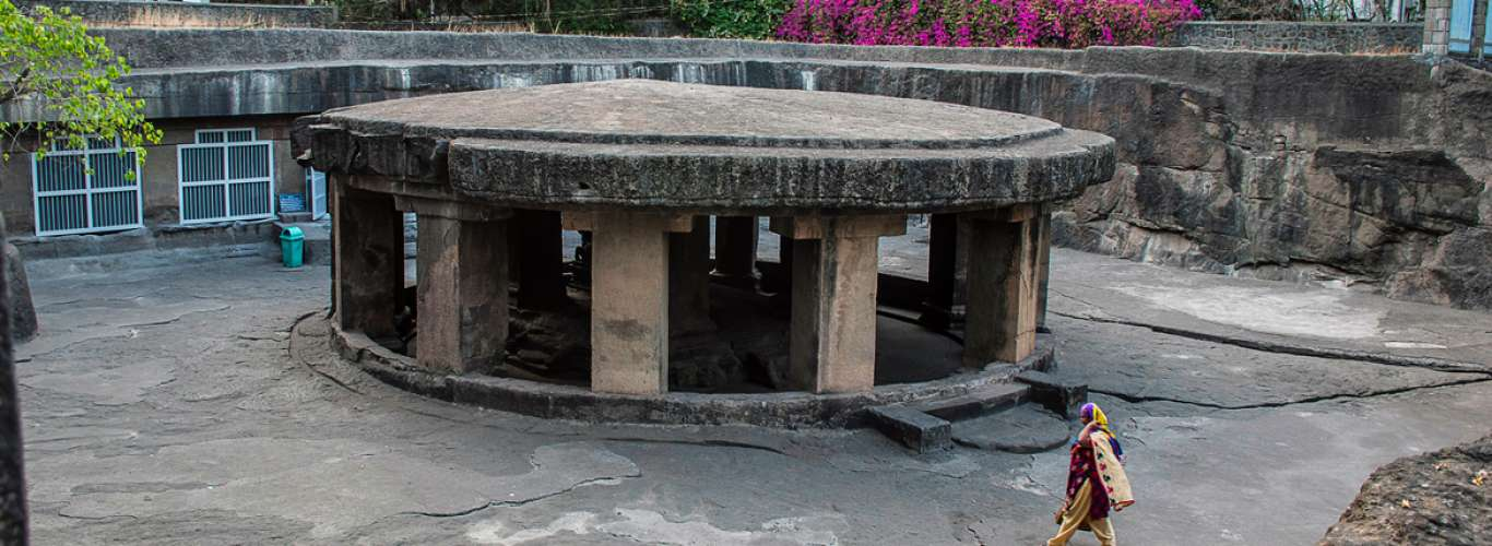 Pune's Pataleshwar Cave: Glory In Greyscale
