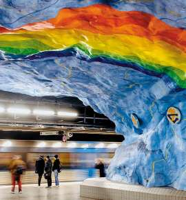 Stockholm Subway Art : bringing together the past and the present