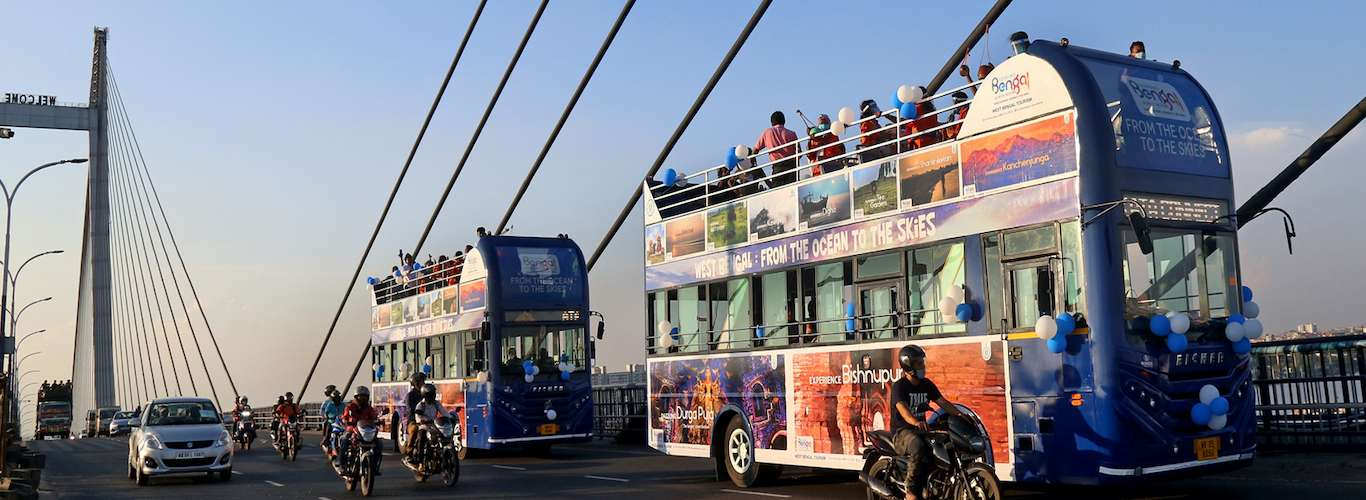 Have You Taken a Ride in this Open-Top Double Decker Bus Yet?