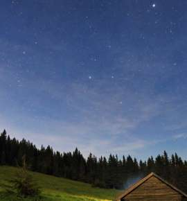Starry Starry Nights in a Smiling Cabin in the Woods