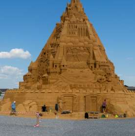 Denmark Now Holds The Record For The World's Highest Sand Castle
