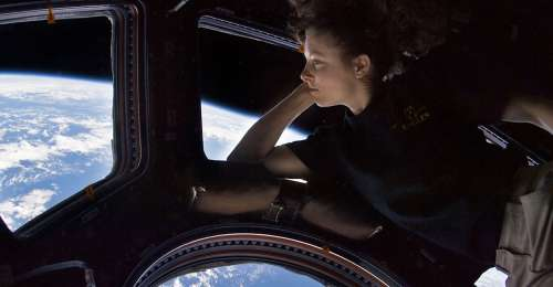 NASA astronaut Tracy Dyson enjoys a view of the Earth from orbit  Credit   NASA jpg&w=500&h=260.'