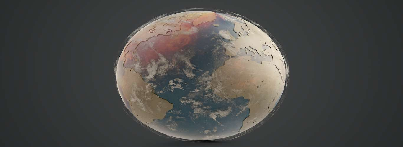 Here Is What The Earth Would Look Like If All the Oceans Dried Up
