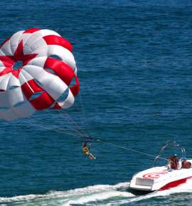 Now You can go Parasailing at Kovalam