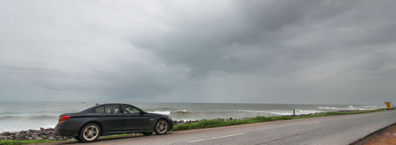 Taking a BMW 530D on a monsoon spin