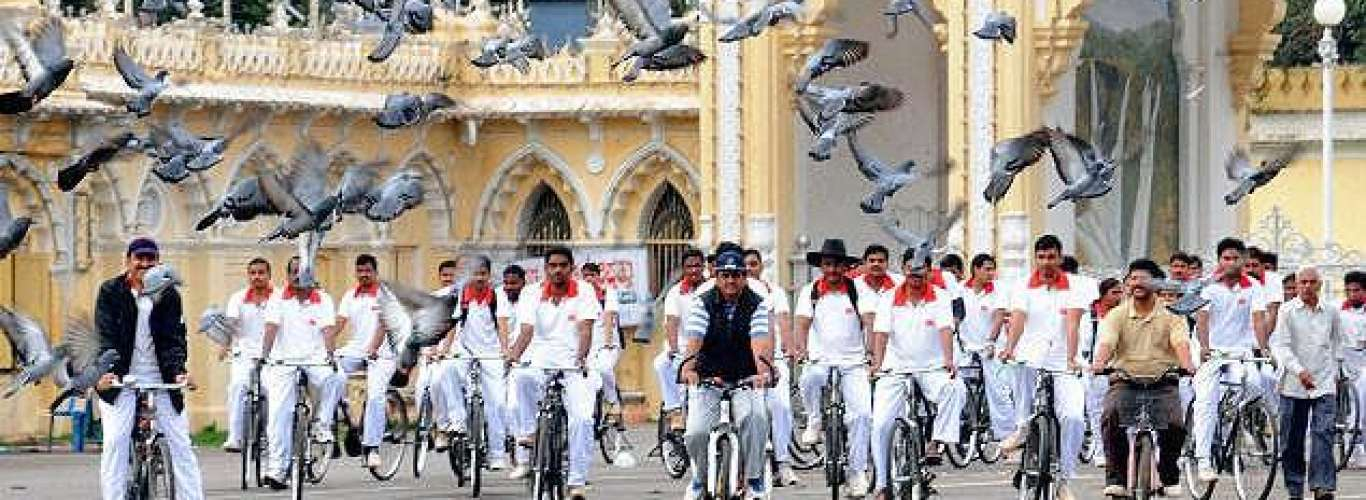 Heritage cycling in Mysore
