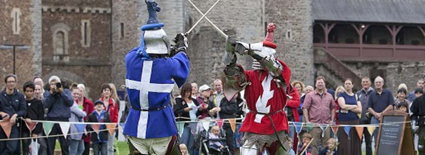 Meeting the medieval knights in Wales
