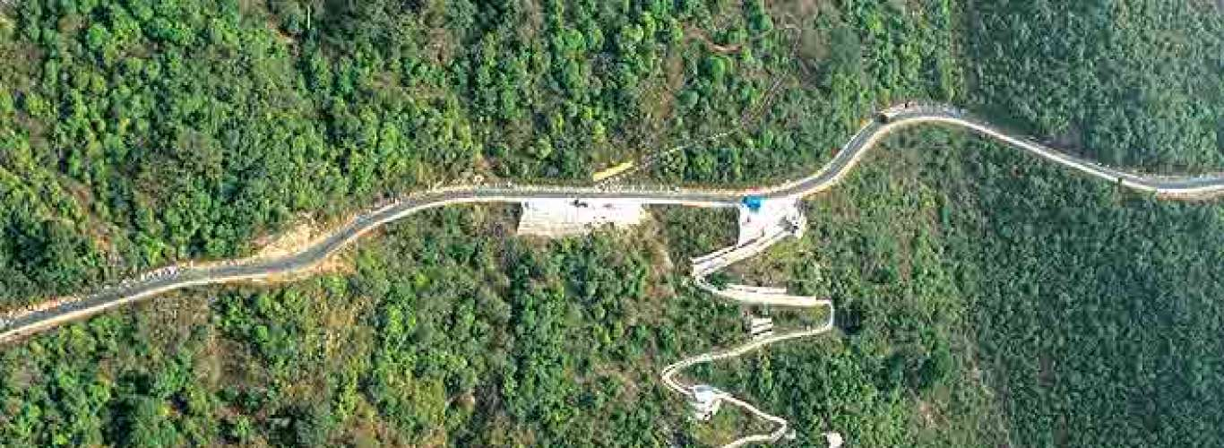 Take a helicopter ride across Sikkim