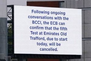 'Suspended' Old Trafford Test Rescheduled To July 2022