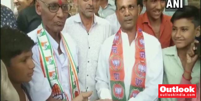 MP Congress Worker Shaves Head After Losing Bet To BJP Counterpart