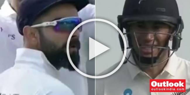 NZ Vs IND, 1st Test, Day 2: Virat Kohli Invokes 'Ben Stokes' While Sending Off Ross Taylor - WATCH