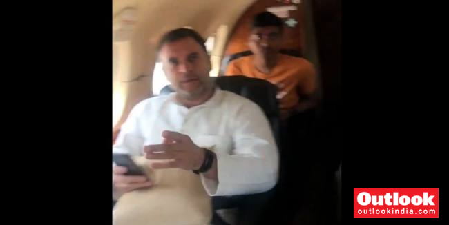 Engine Trouble On Our Flight: Rahul Gandhi Tweets Video, Says Plane Forced To Return To Delhi