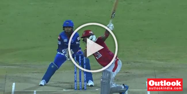 WATCH: Single-Handed KL Rahul Shows His Prowess, Hits Sandeep Lamichhane For A Six