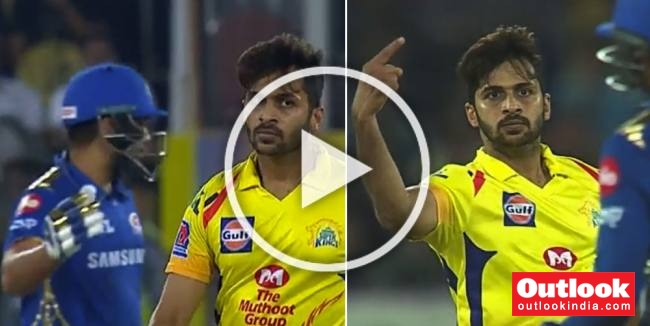 WATCH: Shardul Thakur's Animated Send-Off In IPL Final Enrages Rohit Sharma