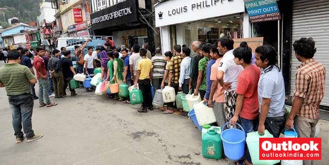 Water Crunch In Shimla For 15 Days As Floods Raise Silt In Rivers - Outlook India