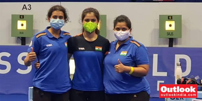 Shooting World Cup: Indian Women's 10m Air Pistol Team Settles For Bronze