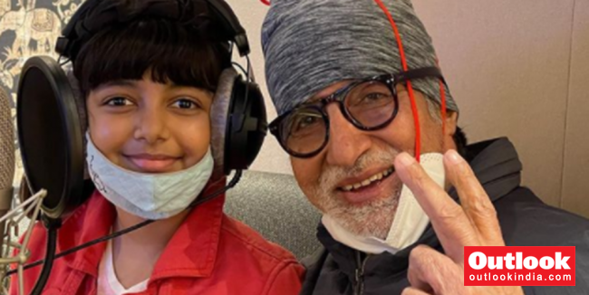 Amitabh Bachchan Records Song With Granddaughter Aaradhya, Shares Picture On Instagram