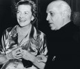 February 11, 1955: Edwina and Nehru at a reception at the Kensington Palace Gardens, London